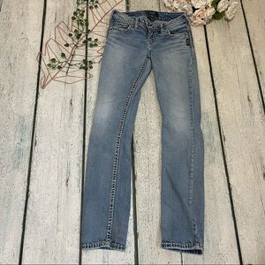 Silver jeans Tuesday W26/L33 faded blue straight